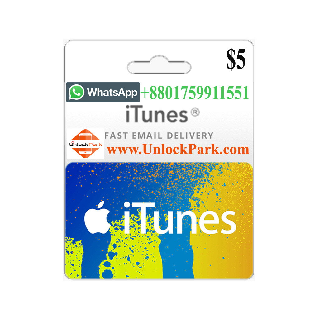USA iTUNES 5$ GIFT CARD